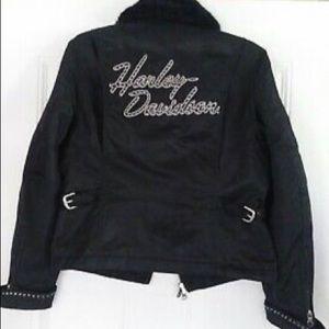 Harley Davidson Women's Nylon Studded Motorcycle J